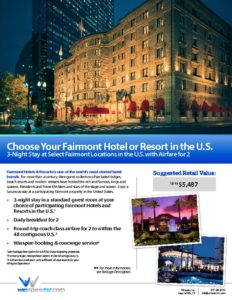 thumbnail of Choose Your Fairmont Hotel or Resort in US