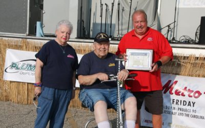 Rick Sturim receiving the Metro Cruise Lifetime Achievement Award